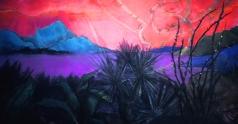 Desert Sunset, 46 x 91- Panel 2