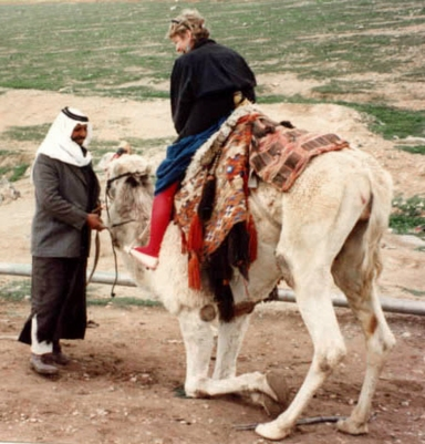 Suzanne Klotz on Came with Bedouin owner, 1991