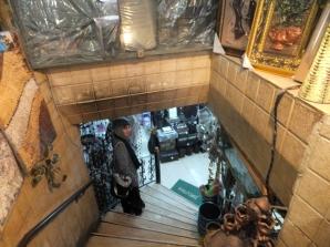 Antique shop, glassware